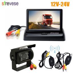 "$enCountryForm.capitalKeyWord Australia - 4.3"" LCD Foldable Monitor Car Rear View Kit + Wireless 18 LED IR Night Vision Car Reversing Backup Camera System 12V-24V"