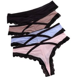 af5e4356e996 80PCS LOT SINGYOU Ice Silk Sexy Comfortable Cotton Underwear Women Thongs  and G String Cross Fashion Girls Panties Lady Brief