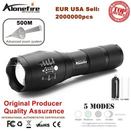 Discount aluminum travel - AloneFire G700 E17 XM-L T6 5000LM Aluminum Waterproof Zoom CREE LED Flashlight lantern Torch Camping light AAA or 18650