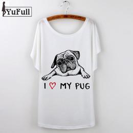 Pug Print Shirt Canada - 2018 Korean Graphic Tees Women T shirt Cartoon Pug Print Short Sleeve female T-Shirt White Casual tshirt Tops French Bulldog