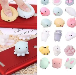 Discount toy seals Squishy Slow Rising Jumbo Toy Bun Toys Animals Cute Kawaii Squeeze Cartoon Toys Mini Squishies Cat Rabbit Seal Panda Fas