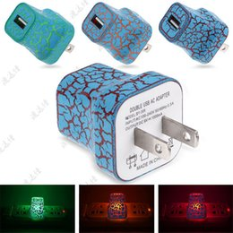 Discount plug wall lights uk - LED light 1A Wall Charger Plug Power Adapter Home Crack led lighting Wall charger for iPhone 5 6 plus Samsung HTC CAB246