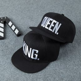 King queen hip hop cap online shopping - Fashion New King Queen Hip Hop Baseball Caps Embroider Letter Couples Lovers Snapback Sun Hats for Men Women Valentine s Day Gift