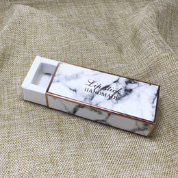 Discount paper lipstick tubes - Marbling Lipstick Packing Paper Box Lip Tube Sample Gift Boxes 2.6*2.6*8.6cm Drawer Type Lipstick Box QW6997