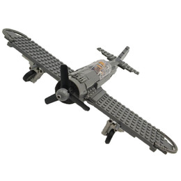 bricks toys army 2018 - WW2 Military Focke-Wulf 190 Fighter Building Blocks Airplane Models Bricks Pilot Figures t Military Army Set Models Toy