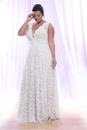 wedding dresses removable sleeve UK - Plus Size Full Lace Wedding Dresses With Removable Long Sleeves V Neck Bridal Gowns Floor Length A Line Wedding Gowns DH396
