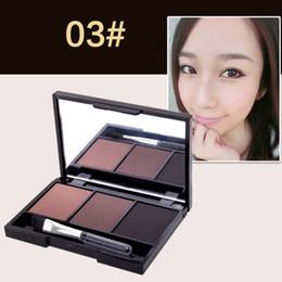 eyeshadow palette mirror 2019 - New 3 Color Eyeshadow Palette Makeup Set Mirror Brush Tools Matte Pigment Cosmetic Makeup Pop Profissional Eye Shadow ch