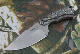 Discount boker knives - New BOKER PE558A Tactical Camping Straight Knives Hunting Fixed Blade Knife Stonewashed Blade Micarta Handle 1pcs freesh