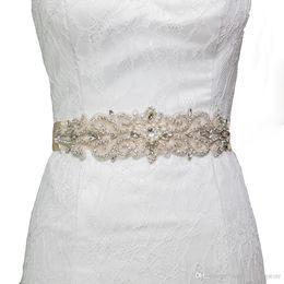 2018 HOT S26 Crystal Rhinestones Вечерние платья для вечеринок Аксессуары Свадебные ремни Sashes, Bride Waistband Bridal Sashes Belts