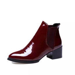 567857798a2c Woman Ankle Boots Women Chelsea Boots 2018 Autumn Fashion Chunky Heels  Female Elastic Band Rubber shoes botines mujer