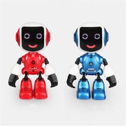 phone sensor 2019 - Electric Touch Sensor Voice Interaction LED Light Phone Holder Alloy Smart Robot cheap phone sensor