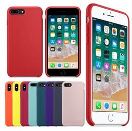 Vente en gros D'origine ont LOGO Étui en silicone pour iPhone 7 8 Plus téléphone Silicon Cover pour iphone X 6S 6 Plus pour Apple Retail Box