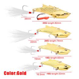 Brand Fishing Lures Australia - Brand Silver Gold 4Sizes Metal Jigs VIB Crankbaits BKB Hooks 10g 18g 26g 35g Flying fish oblique Laser Fishing Lure