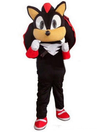 trasporto veloce New Shadow Sonic The Hedgehog Mascot Black Sonic Costume Cartoon personalizzato EMS spedizione gratuita