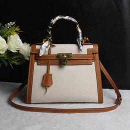 9c9b5f5595b3 Canvas Leather Crossbody Bag Canada - Bolsa Feminina Catton Canvas Luxury Handbags  Women Bags Designer Match