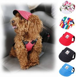 cfd0a29c53b 8 Photos Dog caps wholesale online shopping - Pet Dog Hat Baseball Hat  Summer Canvas Cap Only For
