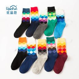 $enCountryForm.capitalKeyWord NZ - UPINFUN Coloured diamond socks, British style socks, men's medium tube socks. (5 Pairs Lot)