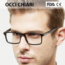 cb7d8174e0 OCCI CHIARI Hombre Gafas Marcos Gafas gafas de sol Acetato Lente  transparente Miopía óptica Anteojos recetados W-CAPUA