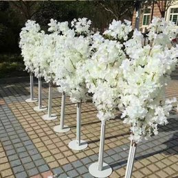 Wedding led floor light online shopping - New Arrival Cherry Blossoms Tree Road Leads Wedding Runner Aisle Column Shopping Malls Opened Door Decoration Stands