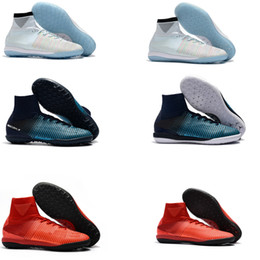 d11a18ee6df5 Newairl kids soccer shoes for boys mercurial superfly fg cr7 sock boots  football womens mens high tops ronaldo ankle indoor soccer cleats