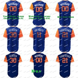 "baseball jerseys orange 2019 - 2018 Little League Classic 21 Todd Frazier ""Toddfather"" 30 Michael Conforto ""Scooter"" 11 Jose Bautis"