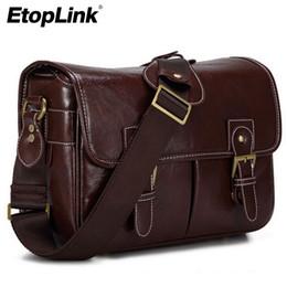 Dslr Slr Camera Australia - Fashion PU Leather Shockproof Camera Bag Handbag for  DSLR SLR Digital Camera Bags Portable Vintage Shoulder Bag for