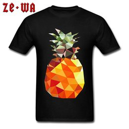 9998c135ce5 Holiday T-shirt For Man Black Tshirt Cotton T Shirts Art Design Tops  Hipster Tees Birthday Geometric Pineapple Print Clothes