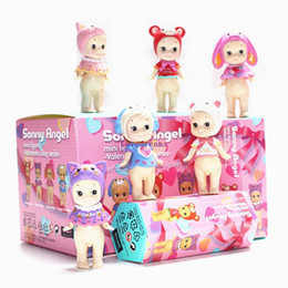 Angels Figures Australia - Sonny Angel 6pcs set Valentine's Day Series Sonny Angel PVC figure Toys Brinquedos Anime 8CM model toys Phone Accessories