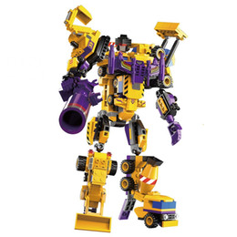 small robot toys UK - 1401 blocks of building blocks, robots, blocks, toys, 7, 1, small particles, puzzle, DIY, creative toys.