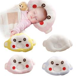 Cartoon Memory NZ - Baby Boy Girl Pillows Cute Cartoon Happy Face Newborn Pillow Kid Support Shape Soft Velvet Cotton Memory Pillow Sleep Bedding