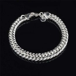 $enCountryForm.capitalKeyWord NZ - New Design 6MM 8MM 10MM 925 Sterling Silver Figaro Chain Bracelet Fashion Men's Jewelry Top Quality Free Shipping Link Mens Bracelets