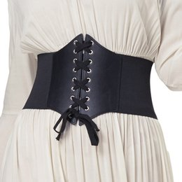 8b09bf5402 Plus Size 3XL Corset Belt For Womens 2017 Fashion Lace Up PU Leather Luxury  Belt Cinch Tie Corset Waist Wide Waistband