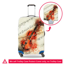 trunk case luggage Canada - 3D Printing Violin Waterproof Travel Luggage Protector Cover For 18 20 22 24 26 28 30 Inch Trunk New Case For Suitcase Washable Dust Covers