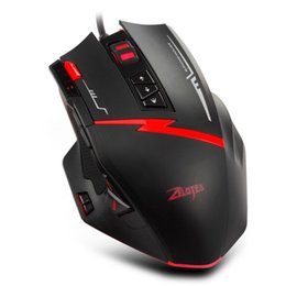 zelotes mice UK - Mouse Raton Zelotes USB Wired Gaming Professional Programmable Mouse Mice For PC Laptop Rechargeable computer 18Aug7