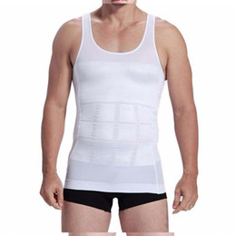 Shaper Shirts NZ - HOT Fashion Men Shaper Vest Body Slimming Tummy Belly Waist Girdle Shirt Shapewear Underwear