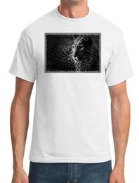 Mens Blue Shirt Black Pant Canada - Leopard , Big Cat - Black And White Photo - Mens T-Shirtmetallica fan pants t shirt