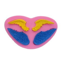 Discount silicone cake mold wings - 1x Large Angels Wings Silicone Fondant Candy Chocolate Mold Cake Decorating