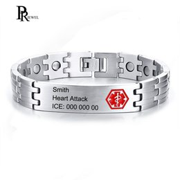 Medical Alert Jewelry NZ - Free Engrave Name Disease Contact Info Medical Alert ID Health Magnetic Energy Bracelets for Men Emergency Situations Jewelry