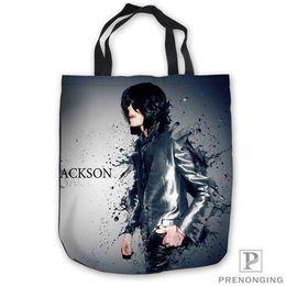 $enCountryForm.capitalKeyWord NZ - Custom Canvas Michael Jackson Tote Shoulder Shopping Bag Casual Beach HandBag Daily Use Foldable Canvas #180713-06-17