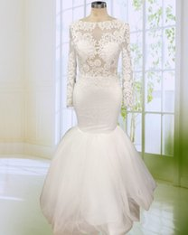 Special Mermaid Prom Dress Elegant Applique Long Sleeve Tulle Prom Night  Dresses vestidos de festa longo 2018 9db1e4444