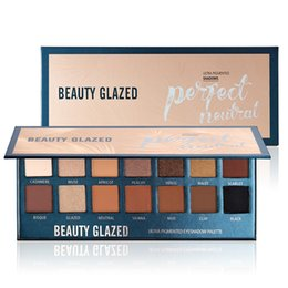 Smokey glitter eyeS online shopping - Beauty Glazed Shimmer Matte Eyeshadow Palette Colors Warm Color Pigmented Smokey Eye Shadow Make Up Powder Cosmetic