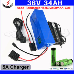 Motor Bicycles Australia - 10S 10P Lithium Battery 36V 34Ah For Bafang Electric Bicycle Battery 36V 1500W Motor With 5A Charger 18650 Cell Free Shipping