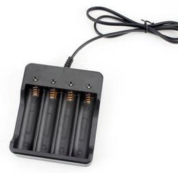 Hohe Qualität schwarz 3.7v 4 Slots intelligente Multi 18650 Lithium-Ionen-Akku-Ladegerät freies Verschiffen