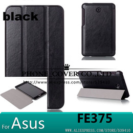 Wholesale Magnet stand leather case cover for Asus FonePad FE375CG FE375CXG FE7530CXG FE375 K019 tablet case screen protectors stylus