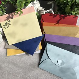 Colored Paper Envelopes Australia - 50Pcs 17.5*11cm Vintage Retro Small Colored Blank Paper Envelopes Wedding Party Invitation Envelope Greeting Cards Gift Envelope