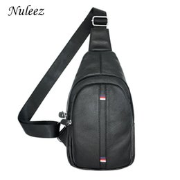 Discount cross chest man bags Nuleez men's breast bag chest bag genuine leather top layer leather shoulder large capacity 2018 good quality popul