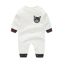man baby romper 2019 - Baby clothes autumn cats men and women baby romper newborn autumn and winter clothes jumpsuit thick warm cotton clothes