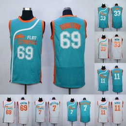 Wholesale Downtown Malone Monix Flint Tropics Jersey Coffee Black Moon Semi Pro Movie Jerseys Men Stitched Jerseys