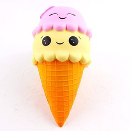 $enCountryForm.capitalKeyWord Australia - Squishy ice Cream Cone Jumbo Slow Rising Soft Squishes Lovely Phone Straps Toys Stress Relief Toy Phone Decor Gift Y13