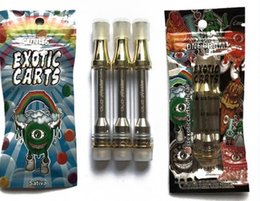 Wholesale Best selling great quality exotic carts cartridges NO LEAK gold ml ceramic coil flavors for option King Pen Cartridges